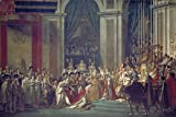 Artland Qualitätsbilder I Alu Dibond Bilder Alu Art 90 x 60 cm historische Ereignisse Spachteltechnik Bunt C1OT Krönung Napoleons Notre Dame Paris