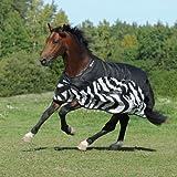 Bucas Bucas Buzz-Off Rain Zebra - Fliegendecke/Ekzemerdecke, im Rückenbereich wasserdicht und atmungsaktiv
