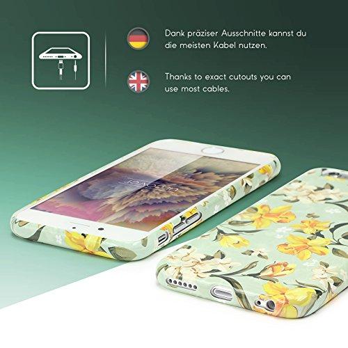 iPhone 6 / 6s Coque, Urcover TPU Silicone Housse Apple iPhone 6 / 6s Protection Étui Fleurs Motif Design 4 Téléphone Femme Smartphone Case Design 2