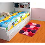 Saral Home Microfiber Anti Slip Bathmat (Pink, 40x60cm)