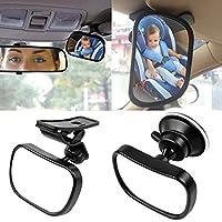 Starcrafter Auto Baby Spiegel Einstellbare Rückspiegel für Babyschalen mit Saugnäpfe und Klammer