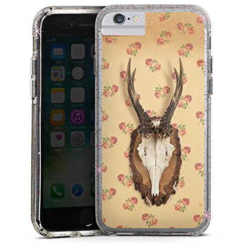 Apple iPhone 7 Plus Bumper Hülle Bumper Case Glitzer Hülle Oktoberfest Geweih Reh Bumper Case Glitzer rose gold