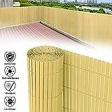 Aufun PVC Recinzione paravista per Giardino, Balcone e terrazza Canniccio Protezione Tappetino Frangivista Frangivento Antivento - 500x160cm, bambù
