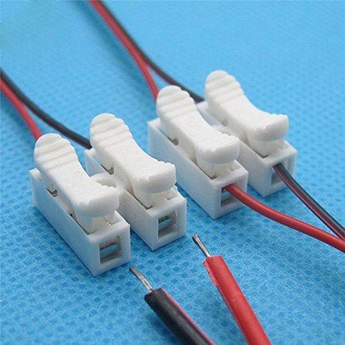 Ytcdx 30pcs 2p ch2filo elettrico morsettiera cavo connettore rapido staffa (prodotto nuovo sconto)