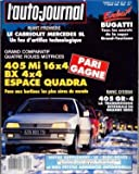 Telecharger Livres AUTO JOURNAL L N 4 du 01 03 1989 SOMMAIRE ACTUALITES AJ INFOS AJ PREMIERE AJ COURRIER NOS LECTEURS ONT LA PAROLE AVANT PREMIERE HONDA NS X PLUS RIEN NE L ARRETE NOUVEAUTE LES CABRIOLETS MERCEDES SL L EUROPE SAIT ENCORE MONTRER LES DENTS DOSSIERS LE BOLIDE BUGATTI VOITURES MOINS CHERES LES FRONTIERES SONT DEJA OUVERTES COMPARATIF AU ROYAUME DES VOITURES LES PLUS SURES 405 ET BX PRENNENT LEUR PLACE PARMI LES MEILLEURES 4X4 AUDI COUPE QUATTRO BMW 325I X TOUR (PDF,EPUB,MOBI) gratuits en Francaise