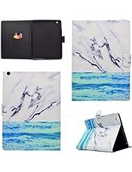 Coque Apple iPad 2/3/4, BONROY® Smart Case Coque pour Apple iPad 2/3/4 TPU Souple Bumper Fermeture Magnétique avec Function Veille Automatique Etui Housse Case Cover pour Apple iPad 2/3/4 - océan