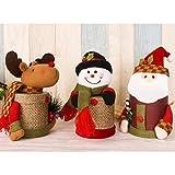 Delmkin Weihnachtsdeko Süßigkeit-Geschenkdose Weihnachtssüßigkeitdose - 27 * 8.5cm (3 Stück)