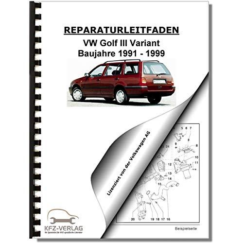 VW Golf 3 Variant (91-99) Inspektion, Wartung, Pflege - Reparaturanleitung