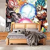 WYH-YW Papier peint 3D Anime Dragon Ball Super Z Salon Chambre Bureau Couloir Décoration Peinture Murale Décor Mural Moderne 300cmx210cm(W×H)
