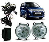 #4: Auto Pearl - High Power Premium Quality 9 LED DRL Fog Lamp Assembly With Wiring Kit and Switch (Without Plastic Sash Cover) For - Maruti Suzuki WagonR 2017