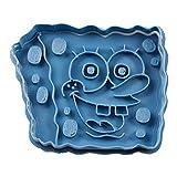 Cuticuter Bob Esponja Cortador de Galletas, Azul. 8x7x1,5cm