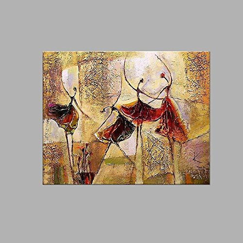 WJ-HOME Öl Malerei von Hand bemalt - Abstrakte Kunst Leinwand gehören Innerer Rahmen, 28