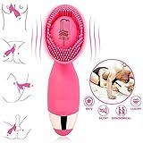 Louviva Vibrator: Klitoris und G Punkt Stimulation - 10 Frequenzschwigung - Starke Klitorisstimulator - Medizinisches Silikon - 100% Wasserdicht - Elektrische handgehalten USB-Auflade(rosa)