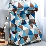 Dreieckskissen Softpack-Bettsofa Großes multifunktionales Rückenstützkissen, abnehmbar und waschbar (Farbe : B, größe : L 55*W22*H60cm)