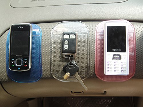 2 Black + 2 trasparente Chiave iPod Cruscotto Griglia Scivolo per telefoni cellulari EJBOTH Car Rilievo Appiccicoso Occhiali,GPS. 4 x Tappetini Antiscivolo