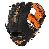 Mizuno GMVP1154PSE3 Prime SE Baseball Glove, Black/Orange, Right Hand Throw