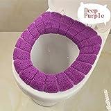 HMOCNV Funda para asiento de inodoro de 7 colores, suave y gruesa, elástica, lavable, profundo morado, Tamaño libre