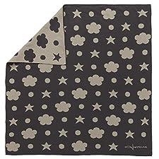 Lorena Canals Italienisches gekämmte Baumwolle Decke (Leinen/dunkelgrau, 2Stück)