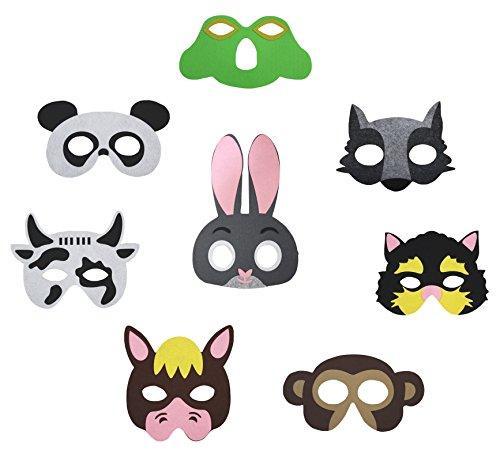 Petitebelle 8Packungen Eyewear Maske Up Party Kleid Kostüm für Kinder 2+ Teil 2 Gr. One Size, Mehrfarbig