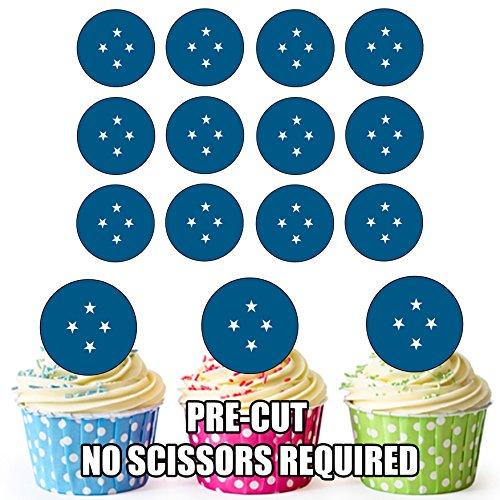 Föderierte Staaten von Mikronesien (FSM) Flagge–24Essbare Cupcake Topper/Geburtstag Kuchen Dekorationen–Einfache vorgeschnittenen Kreise (Karte Von Mikronesien)