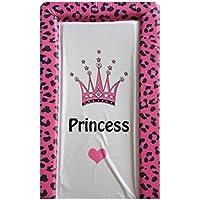 Tappetino per Cambiare Bambine in PVC Fucsia Leopardato con Corona da Principessa
