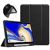 MoKo Custodia per Samsung Galaxy Tab S4 10.5 con Portapenna per Pencil, Protettiva Ultra Sottile, Supporta Funzione Auto Sveglia/Sonno per Galaxy Tab S4 10.5' 2018 (SM-T830/SM-T835) - Nero