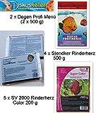 Frostfutter Sparpaket : Rinderherz Mix 2 x Degens Profi (2x500g)4x Stendker Rinderherz 500g/5 x SV 2000