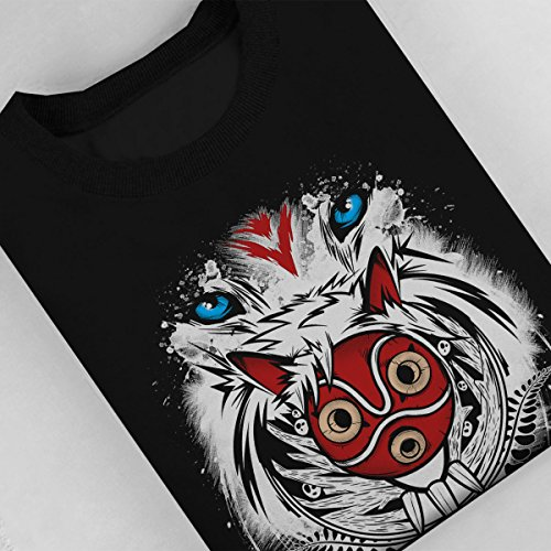 Princess Mononoke Forest Spirit Protector Women's Sweatshirt Black