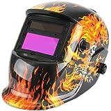 Amzdeal Masque de Soudure Automatique Casque Solaire Auto assombrissement Masque Soudeurs à l'arc crâne masque Casque de soudage DIN 9-13