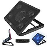 """5 Fan Laptop Laptop Cooler Cooling Pad Stand With Tilt 12"""" 17"""" Inch"""