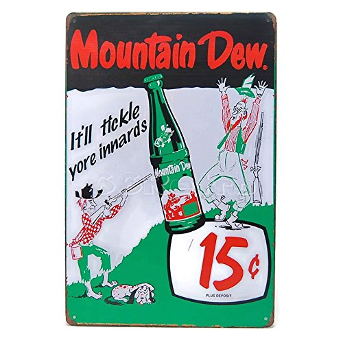 mountain-dew-itll-tickle-yore-innards-vintage-tin-sign-20cm-x-30cm-wall-decorative-sign-by-66retro