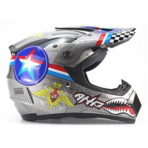 Qianliuk Cascos de protección para Motos Ciclismo Motocross Downhill Casco de Seguridad