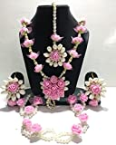 Best Necklace For 2 Prime - Shivi Jewels Non-Precious Metal Traditional Pink Flower Floral Review
