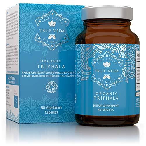 Bio Triphala Cápsulas con Certificación Ecológica | Suplemento de Plantas 100% Natural de Alta Absorción | Vegano | Ayurveda | 60 Cápsulas de Fácil Ingestión