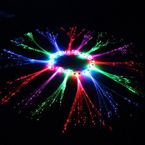 Fiber Optische LED Haar Lichter LED Haar Zopf Clip Haarspange Ostern Weihnachten Partei 2PCS