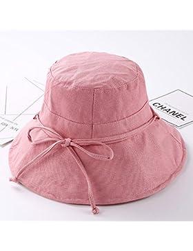 La primavera y el verano plain pescador Hat Cap algodón gran cuenca de plegado de ala sombra tapa sombrero para...