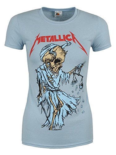 Metallica T-Shirt Cartoon Reaper da donna in celeste