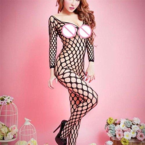 Intimo Sexy Donna,❤️ beautyjourney ❤️Women Open Bodystockings Perspective Print Underwear Pigiama a rete-Sexy Biancheria Lingerie Donna Completo donna lingerie sexy Hard Nerio-4