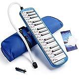 Tragbare Melodica mit 32 Schlüsseln und Tragetasche für Musikliebhaber, Geschenk für Anfänger Blue Type A
