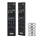 Alkia RM-ED052 Remote Control Compatible Replacement for Sony Smart TV/ HDTV/ 3D/ LCD/ LED, Applicable RM-ED053 RM-ED060, KDL-40W905A KDL-46W905A KDL-55W905A KDL-65W855A…