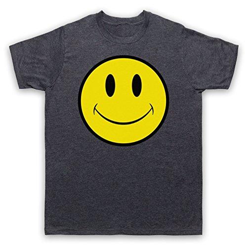 Acid House Smiley Face Herren T-Shirt Jahrgang Schiefer