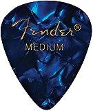 Fender 351 Classic Celluloid Picks 12-Pack (Couleurs assorties) Blue Moto (Medium) - Lot de 12 médiators