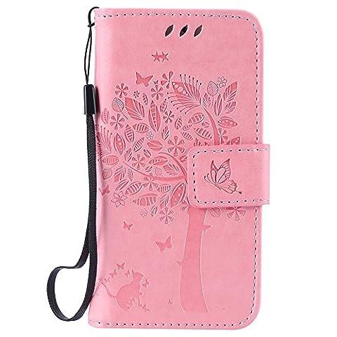 Nancen Wallet Case Tasche Hülle für Apple iPhone 5 /
