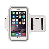 iphone 6s Armband (4.7Inch), Koly Running Sports Sweatproof Armband Gym Iphone 6/6s Arm Band Cover Case (White)