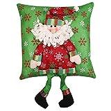 Dragon868 Kissenbezug Weihnachtsschmuck Santa Claus Snowman Familie Weihnachtsdekor