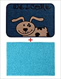 Combo of Saral Home Soft Cotton Bathmat & Jute Doormat Set of 2 pc