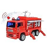 Nuheby Camion Pompieri Giocattolo Macchinine Giocattolo da Costruzione per Bambini con Luce e Suono Regalo Ragazzi Ragazze 3,4,5,6 Anni