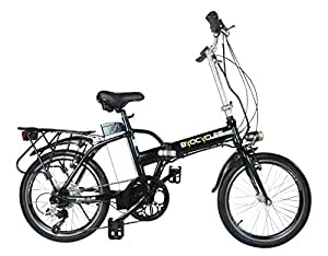 Byocycles Unisex's City Speed Electric Bike, Black & Green, 17""