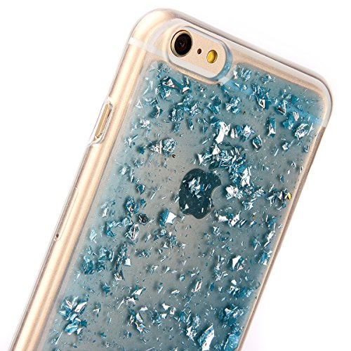 Custodia iPhone 6S, Custodia iPhone 6, Case Cover per iPhone 6S / 6, ikasus® Shiny Sparkly Bling Bling Glitter iPhone 6S / 6 Custodia Cover [Crystal TPU] [Shock-Absorption] Protettiva Trasparente Ultr Blu Scintillio Bling