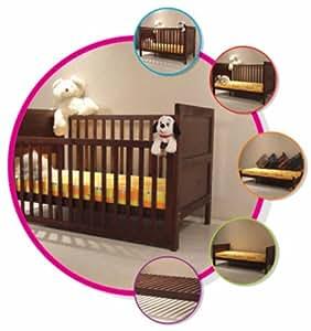 Buy Wudplay Arum Teak Wood Sliding Rail Crib, Toddler Bed ...